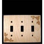 Pinecone Triple Switch Plate