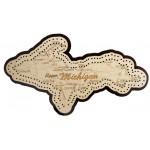 Upper Michigan Map Cribbage Board