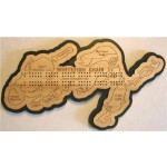 Whitefish Chain, Crow Wing County, MN Cribbage Board