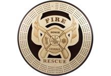 Fire & Rescue 4 Track Cribbage Board