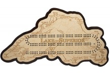 Lake Superior Map Cribbage Board