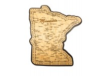 Minnesota Map Cribbage Board