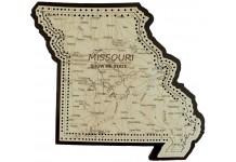 Missouri Map Cribbage Board