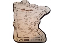 Minnesota Map 3 Track Cribbage Board