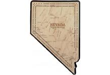 Nevada Map Cribbage Board
