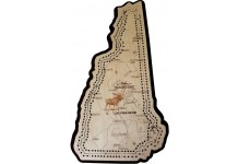 New Hampshire Map Cribbage Board