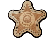 Sheriff Badge Cribbage Board