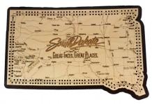 South Dakota Map Cribbage Board