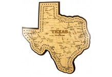 Texas Map Cribbage Board