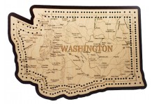 Washington Map Cribbage Board