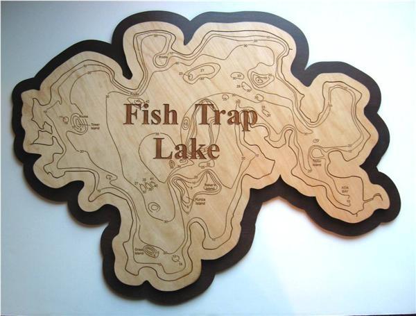Fish trap lake wood art morrison county mn for Fish trap lake mn