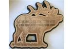 Elk Cribbage Board