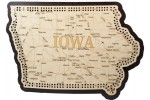 Iowa Map Cribbage Board