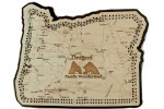 Oregon Map Cribbage Board