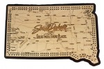 South Dakota Map Cribbage Board