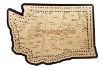 Washington Map Cribbage Board
