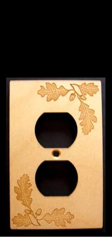 Oak leaf outlet cover