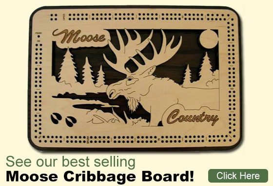 Buy our Moose Cribbage Board